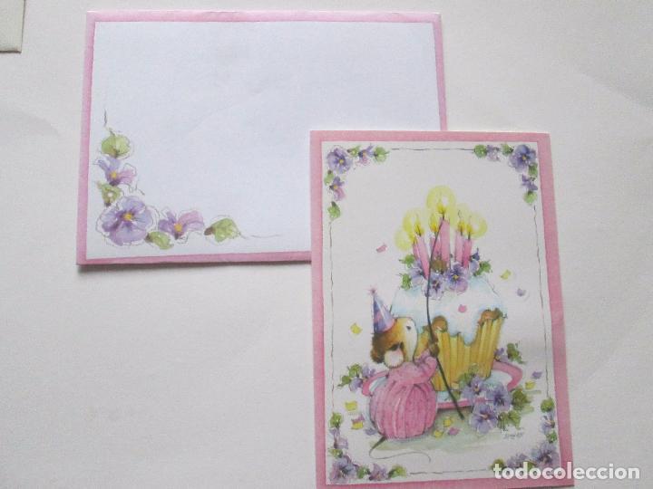 Postales: lote 9 tarjetas navideñas-nuevas-preciosas-escasas-sobres-ver fotos. - Foto 8 - 75110271