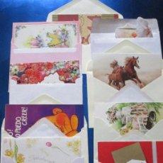 Postales: LOTE 9 TARJETAS NAVIDEÑAS-NUEVAS-PRECIOSAS-ESCASAS-SOBRES-VER FOTOS.. Lote 75110271