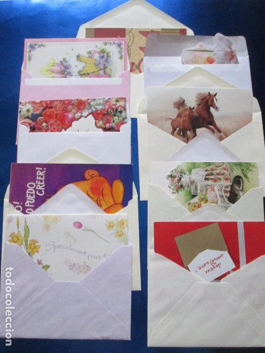 Postales: lote 9 tarjetas navideñas-nuevas-preciosas-escasas-sobres-ver fotos. - Foto 14 - 75110271