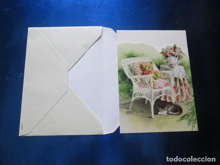 Postales: lote 9 tarjetas navideñas-nuevas-preciosas-escasas-sobres-ver fotos. - Foto 17 - 75110271