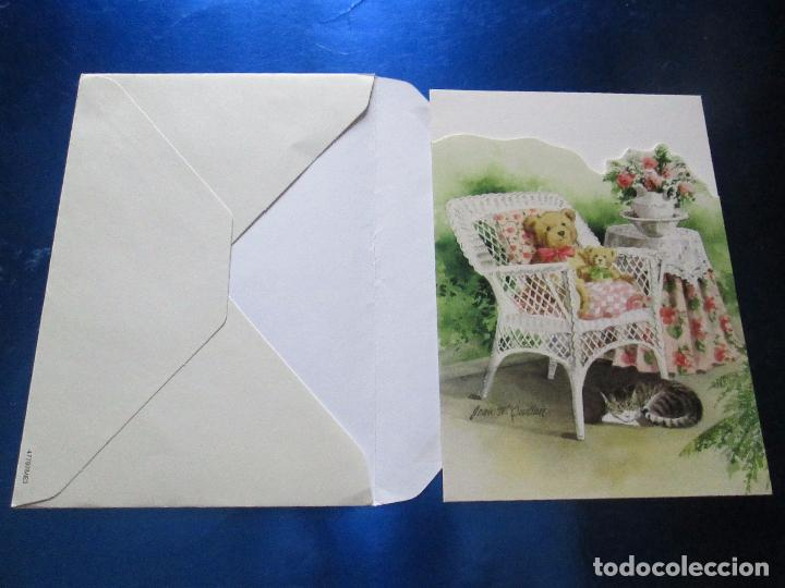Postales: lote 9 tarjetas navideñas-nuevas-preciosas-escasas-sobres-ver fotos. - Foto 18 - 75110271
