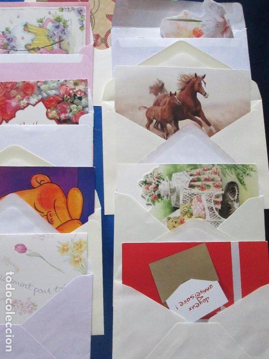 Postales: lote 9 tarjetas navideñas-nuevas-preciosas-escasas-sobres-ver fotos. - Foto 21 - 75110271