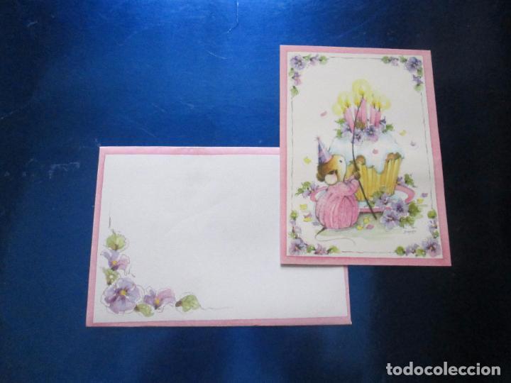 Postales: lote 9 tarjetas navideñas-nuevas-preciosas-escasas-sobres-ver fotos. - Foto 29 - 75110271