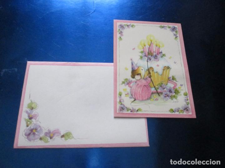 Postales: lote 9 tarjetas navideñas-nuevas-preciosas-escasas-sobres-ver fotos. - Foto 30 - 75110271