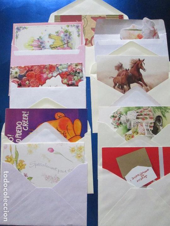 Postales: lote 9 tarjetas navideñas-nuevas-preciosas-escasas-sobres-ver fotos. - Foto 33 - 75110271