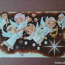 Postales: POSTAL NAVIDAD. ANGELES. TALLERES GRAFICOS FHER. D - 12/73. 1973. DIPTICA. ESCRITA.. Lote 76511423