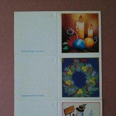 Postales: ETIQUETAS NAVIDAD. ORIGINAL PINTADO CON LA BOCA. . Lote 76533623