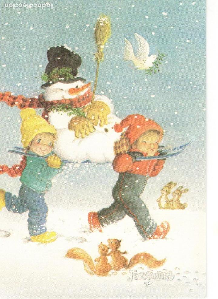 Ferrandiz navidad postal ni os mu eco d comprar - Postales de navidad con fotos de ninos ...