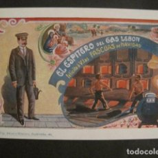 Postales: EL ESPITERO DEL GAS LEBON - FELICITA PASCUAS NAVIDAD- MUY ANTIGUA -VER FOTOS -(V-10.365). Lote 82314380