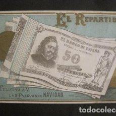 Postales: EL REPARTIDOR BANCO DE ESPAÑA 50 PTS.- FELICITA PASCUAS NAVIDAD- MUY ANTIGUA -VER FOTOS -(V-10.368). Lote 82314940