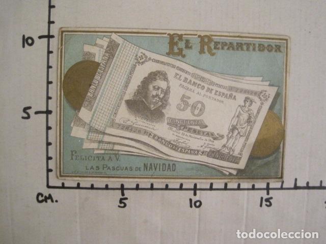 Postales: EL REPARTIDOR BANCO DE ESPAÑA 50 PTS.- FELICITA PASCUAS NAVIDAD- MUY ANTIGUA -VER FOTOS -(V-10.368) - Foto 5 - 82314940