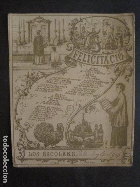 LOS ESCOLANS DELS ANGELS - FELICITA PASCUAS NAVIDAD- MUY ANTIGUA -VER FOTOS -(V-10.369) (Postales - Postales Temáticas - Navidad)