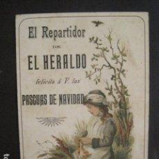 Postales: EL REPARTIDOR DE EL HERALDO - FELICITA PASCUAS NAVIDAD- ANTIGUA -VER FOTOS -(V-10.371). Lote 82315212