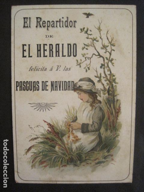 Postales: EL REPARTIDOR DE EL HERALDO - FELICITA PASCUAS NAVIDAD- ANTIGUA -VER FOTOS -(V-10.371) - Foto 2 - 82315212