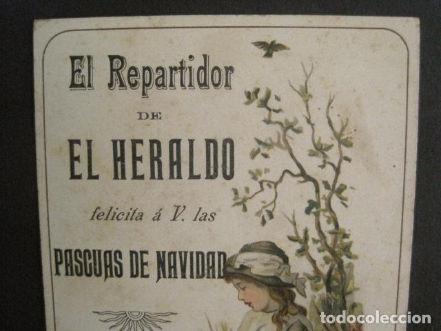 Postales: EL REPARTIDOR DE EL HERALDO - FELICITA PASCUAS NAVIDAD- ANTIGUA -VER FOTOS -(V-10.371) - Foto 3 - 82315212