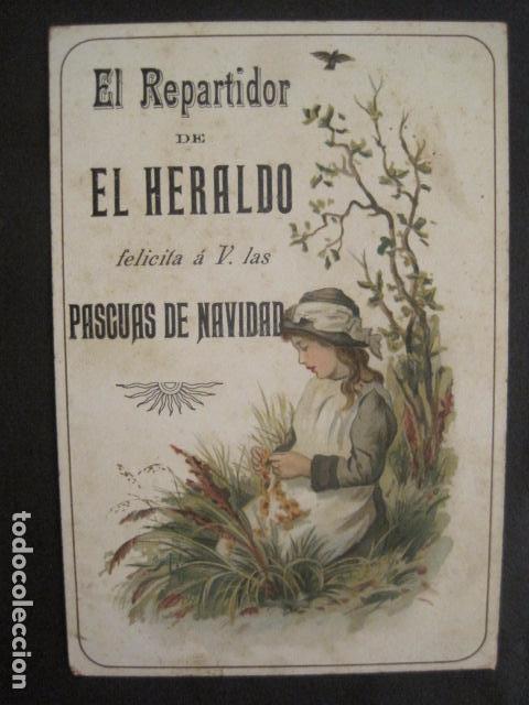 Postales: EL REPARTIDOR DE EL HERALDO - FELICITA PASCUAS NAVIDAD- ANTIGUA -VER FOTOS -(V-10.371) - Foto 4 - 82315212