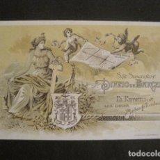 Postales: SUSCRIPTOR DIARIO DE BARCELONA -FELICITACION DEL REPARTIDOR -VER FOTOS -(V-10.382). Lote 82318580