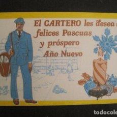 Postales: EL CARTERO- FELICITA PASCUAS NAVIDAD -VER REVERSO DIFERENTE -VER FOTOS -(V-10.386). Lote 82319008