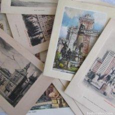 Postales: 15 ANTIGUAS FELICITACIONES NAVIDEÑAS CON VISTAS DE MADRID. Lote 82331644