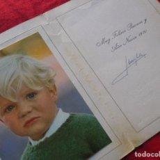 Postales: FELICITACION NAVIDEÑA CON FOTO DE FELIPE VI DE NIÑO FIRMADA POR LOS REYES JUAN CARLOS Y SOFIA. 1970.. Lote 83461560