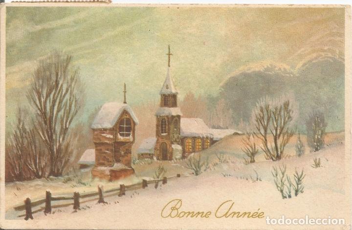 FELIZ AÑO NUEVO - JC - CIRCULADA 1960 (Postales - Postales Temáticas - Navidad)
