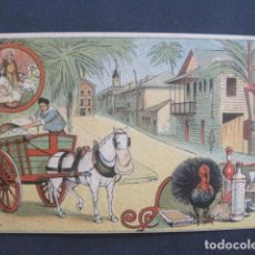 Postales: EL BASURERO - FELICITACION NAVIDAD - SIGLO XIX -VER FOTOS(V-10.716). Lote 84732636