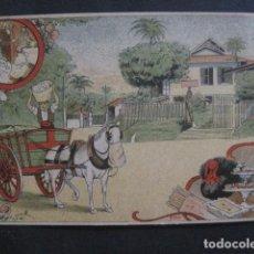 Postales: EL BASURERO - FELICITACION NAVIDAD - SIGLO XIX -VER FOTOS(V-10.721). Lote 84733652