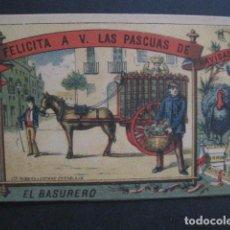 Postales: EL BASURERO - FELICITACION NAVIDAD - SIGLO XIX -VER FOTOS(V-10.722). Lote 84733688