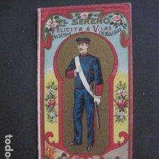 Postales: EL SERENO - DIPTICO - FELICITACION NAVIDAD -VER FOTOS(V-10.724). Lote 84734640