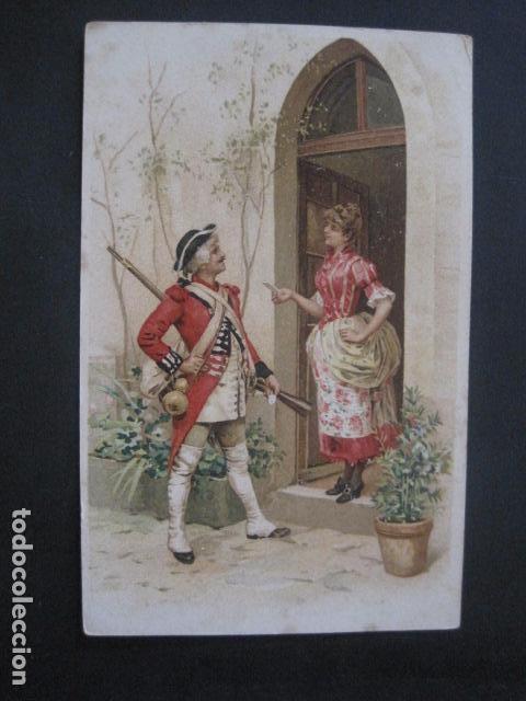 FELICITACIO NADAL -FELICITACION NAVIDAD- JOAN DOMENECH - SIGLO XIX -VER FOTOS(V-10.726) (Postales - Postales Temáticas - Navidad)