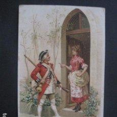 Postales: FELICITACIO NADAL -FELICITACION NAVIDAD- JOAN DOMENECH - SIGLO XIX -VER FOTOS(V-10.726). Lote 84735204