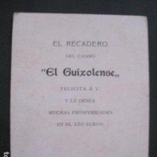 Postales: SANT FELIU GUIXOLS - EL RECADERO CASINO GUIXOLENSE -FELICITACION NAVIDAD -VER FOTOS -(V-10.731). Lote 84736016