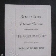 Postales: SANT FELIU GUIXOLS - DEPENDIENTES EL GUIXOLENSE -FELICITACION NAVIDAD -VER FOTOS -(V-10.732). Lote 84736184