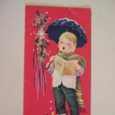 Cartoline: TARJETA DOBLE - FELICITACION NAVIDEÑA - 1962 - ILUSTRADA POR M.R.G. MARIA ROSA GARCIA - SCRITA 17X8. Lote 86528544