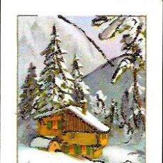 Postales: TARJETA NAVIDAD * PAISAJE NEVADO * ADORNADA CON PURPURINA . Lote 86581516