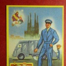Postales: EL BASURERO - FELICITA A VD. LAS PASCUAS DE NAVIDAD - FELICITACIÓN NAVIDEÑA OFICIOS - 1961 . Lote 87482040