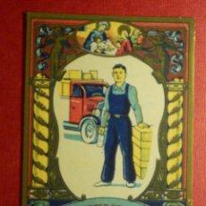 Postales: FELICES NAVIDADES LES DESEA EL REPARTIDOR AUTO CAMION - ANTIGUA FELICITACION NAVIDEÑA OFICIOS - 1958. Lote 87482492