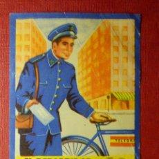 Postales: FELICES NAVIDADES LES DESEA EL REPARTIDOR TELÉGRAFOS - ANTIGUA FELICITACION NAVIDEÑA OFICIOS - 1960. Lote 87482780
