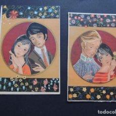 Postales: 2 TARJETAS DE NAVIDAD CON SU SOBRE - SIN UTILIZAR / AÑO 1968 / MIRACLE - SABADELL. Lote 89631436