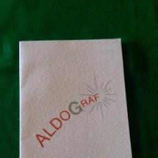 Postales: POSTAL NAVIDEÑA «PUBLICIDAD ALDOGRAF» DOBLE. 10,5 X 21 CMS. MECANOGRAFIADA. Lote 90116544
