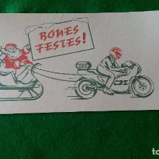 Postales: POSTAL NAVIDEÑA «MOTO CON TRINEO» 10 X 21 CMS. MANUSCRITA. Lote 90119600