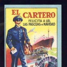 Postales: FELICITACION NAVIDEÑA DE OFICIOS: EL CARTERO. Lote 90385264