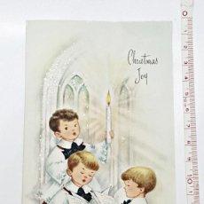 Postales: ANTIGUA TARJETA DE NAVIDAD MADE IN USA. AÑOS 60.. Lote 90796710