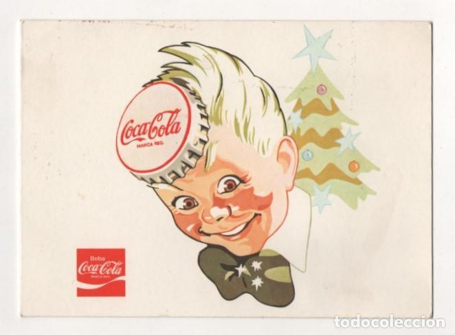 (ALB-TC-9) MUY DIFICIL TARJETA FELICITACION NAVIDAD DIPTICO 25 ANIVERSARIO COCA COLA 1953 - 1978 (Postales - Postales Temáticas - Navidad)