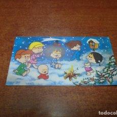 Postales: CHRISTMAS TARJETA POSTAL NAVIDAD AÑOS 60 FAMILIA TELERÍN ORIGINAL. Lote 93124675