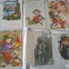 Postales: 64-LOTE C- 6 POSTALES NAVIDEÑAS ANTIGUAS. Lote 96234419