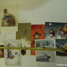 Postales: 12 TARGETAS DE NAVIDAD DE MIDA MEDIANA DE LOS AÑOS 1970S. Lote 97888587