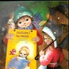 Postales: TARJETA NAVIDAD GUERRA -* ¡ ALELUYA , HA NACIDO JESÚS ! * DÍPTICO,1971. Lote 97950211