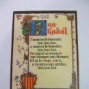 Postales: TARJETA FELICITACION NAVIDEÑA. BON NADAL. EN CATALAN. 1972. TDKP12. Lote 98641719