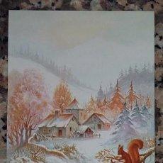 Postales: PERALTA ILUSTRADOR. CHRISTMAS ARDILLAS, POSTAL DE NAVIDAD AÑOS 70-80 SIN USAR. Lote 98915339